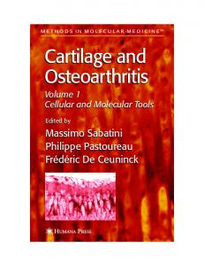 Cartilage and Osteoarthritis Cartilage and ... - Semantic Scholar