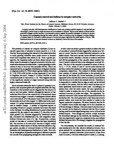 Cascade control and defense in complex networks