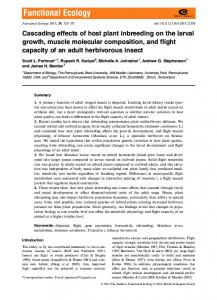 Cascading effects of host plant inbreeding on ... - Wiley Online Library
