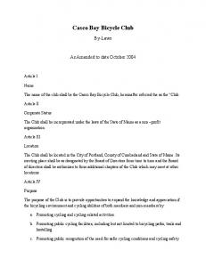 Casco Bay Bicycle Club Bylaws