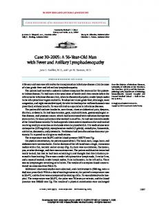 Case 30-2005 - Division of Infectious Diseases