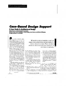 Case-based design support: a case study in architectural design ...