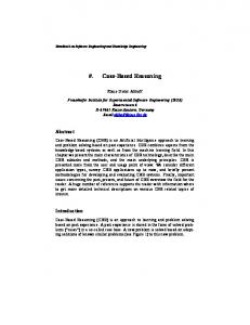 Case-Based Reasoning - Semantic Scholar