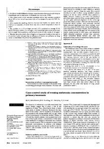 Case-control study of evening melatonin concentration in ... - NCBI