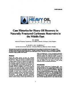 Case Histories for Heavy Oil Recovery in Naturally ...