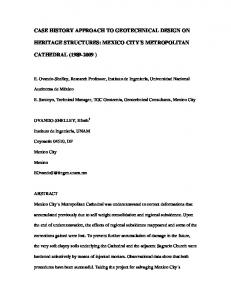 CASE HISTORY APPROACH TO GEOTECHNICAL DESIGN ON ...
