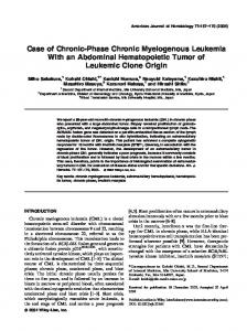 Case of chronic-phase chronic myelogenous ... - Wiley Online Library