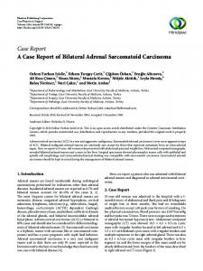 Case Report A Case Report of Bilateral Adrenal ... - Hindawi