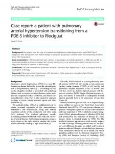 Case report: a patient with pulmonary arterial hypertension ...