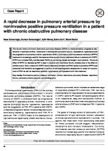 Case Report-A rapid decrease in pulmonary arterial pressure by ...