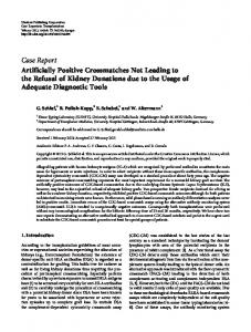 Case Report Artificially Positive Crossmatches Not ...