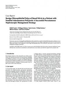 Case Report Benign Fibroepithelial Polyp of Renal