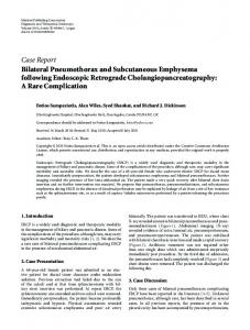 Case Report Bilateral Pneumothorax and Subcutaneous Emphysema ...