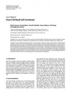 Case Report Clear Cell Basal Cell Carcinoma