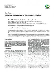 Case Report Epithelioid Angiosarcoma of the Septum ...