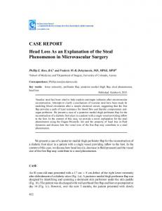 CASE REPORT Head Loss As an Explanation of the Steal ...