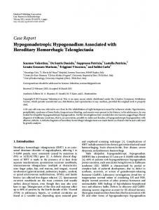 Case Report Hypogonadotropic Hypogonadism ...