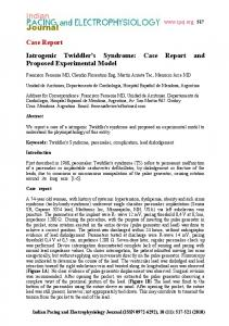 Case Report Iatrogenic Twiddler's Syndrome: Case Report and ...