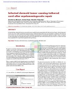 Case Report Infected dermoid tumor causing tethered