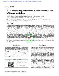 Case Report Intracranial hypertension: A rare ...