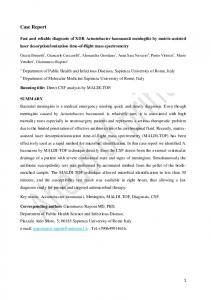Case Report - New Microbiologica