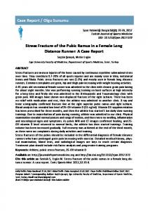 Case Report / Olgu Sunumu Stress Fracture of the Pubic Ramus in a ...