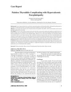 Case Report Painless Thyroiditis Complicating with ...