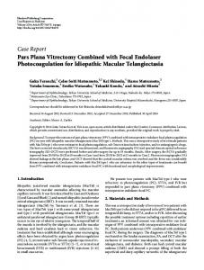 Case Report Pars Plana Vitrectomy Combined with ... - BioMedSearch
