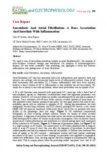 Case Report Sarcoidosis And Atrial Fibrillation: A Rare ... - CiteSeerX