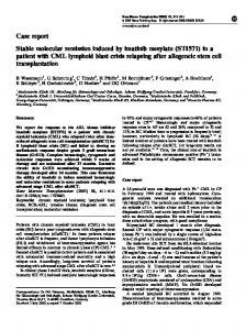 Case report Stable molecular remission induced by imatinib mesylate ...