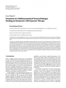 Case Report Treatment of a Multitraumatized