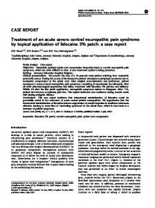 CASE REPORT Treatment of an acute severe central ... - Nature
