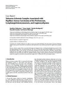 Case Report Tuberous Sclerosis Complex Associated ...