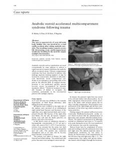 Case reports Anabolic steroid accelerated multicompartment ... - NCBI