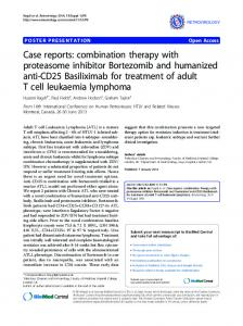 Case reports: combination therapy with proteasome ...