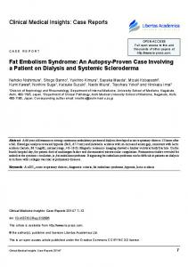 Case Reports Fat embolism syndrome
