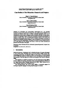 Case Studies in Tele-Education: Research and