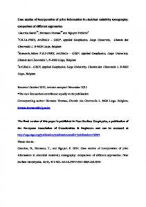 Case studies of incorporation of prior information in electrical resistivity ...