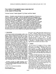 Case studies of tropospheric ozone events ... - Wiley Online Library