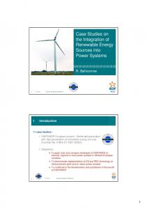 Case Studies on the Integration of Renewable Energy Sources into ...
