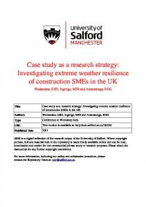 Case study as a research strategy - University of Salford Institutional ...