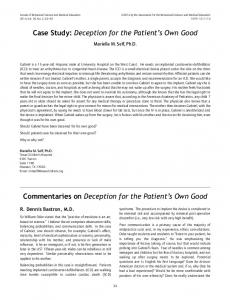 Case Study: Deception for the Patient's Own Good ... - Springer Link