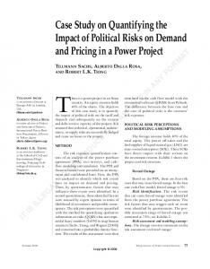 Case Study on Quantifying the Impact of Political ...