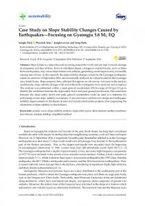 Case Study on Slope Stability Changes Caused by ... - MDPI