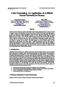 Cash Forecasting: An Application of Artificial Neural Networks - TMRF