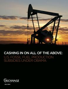 cashing in on all of the above: us fossil fuel production subsidies