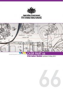 CASR Part 66 Information Booklet - Civil Aviation Safety Authority
