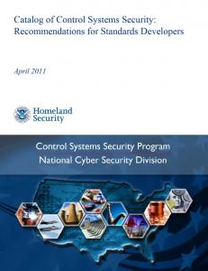 Catalog of Control Systems Security: Recommendations ... - ICS-CERT