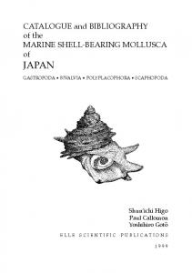 CATALOGUE and BIBLIOGRAPHY of the MARINE