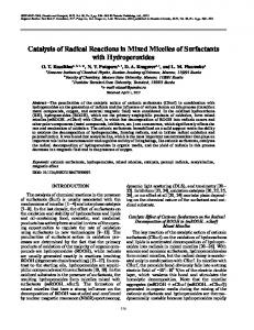 Catalysis of Radical Reactions in Mixed Micelles of ... - Springer Link